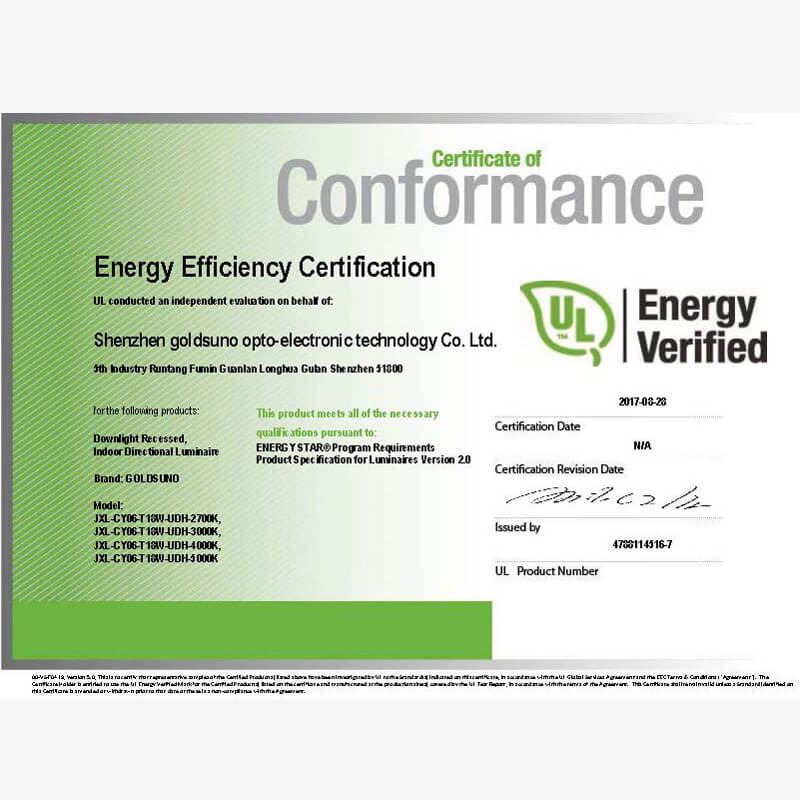 6 Inch 18W Downlight Energy Star Certificate